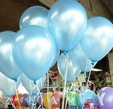 +/- 50 Latex Ballonnen10 inch dik ook voor Helium Lichtblau Babyshower