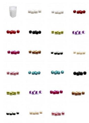 600 Parelspeld Parelspelden Push pin  - push pin 10 mm white set 72  Parelspelden