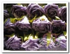 foam roos Lila-Paars gemel. / stuk foam roos Lila
