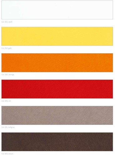 Wolband HEAVY WOLVLIES Wolvilt 150MM X 5MTR.  - 026 rood Wolband Vilt