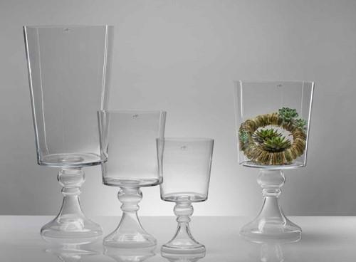 Centerpiece footed conical goblet - cold cut NIET VERZONDEN NIET VERZONDEN