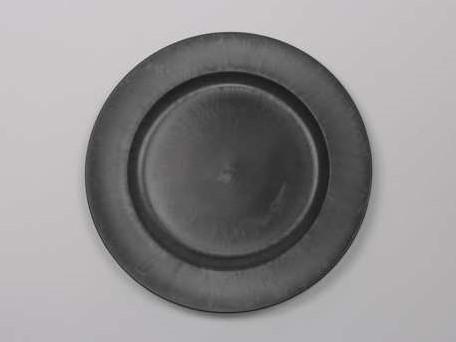 Onderbord Loodlook Basic Grey Grijs 33 cm. rond loodlook