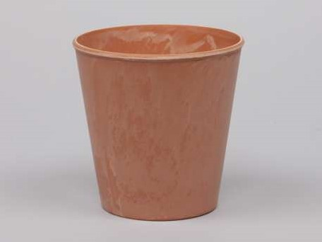 Bloemenpot Bloemenvaas Poeder soft Oranje 10, 5cm. Bloemenvaas pot