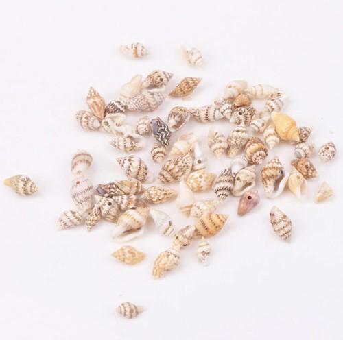 Leopardprint schelpen met klein gaatje voor sieraden +/- 50st +/-10-16 mm kleine schelpjes voor sieraden