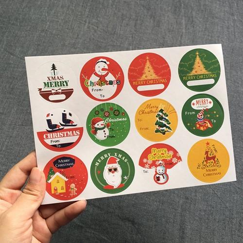 120 Stickers Labels Kerstetiketten Kerst sluitsticker