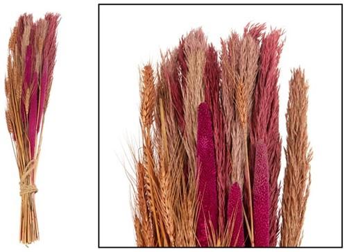 Bouquet plume / babala 75cm - Red/Terra cotta Gemengde granen grassen en pluimen