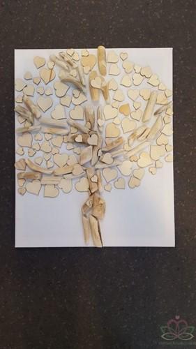 100 houten harten hartjes hout gemengde maten / zak Hartjes Hout