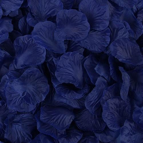 Blad zijde blaadjes Donkerblauw rozenblaadjes / pakje Blad zijde blaadjes