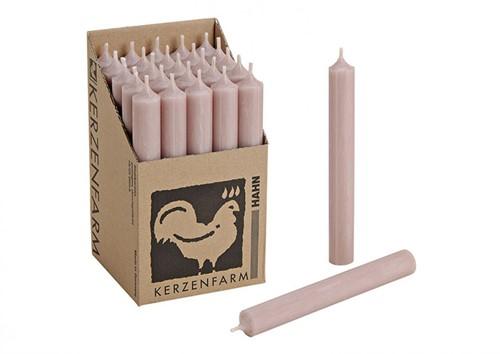 Doorgekleurde Staafkaarsen Taupe doos 25st mooie Kaarsen