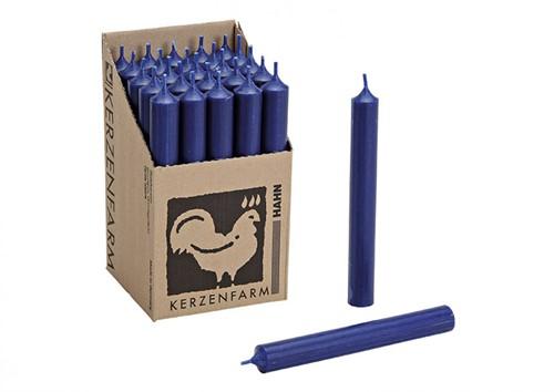 Doorgekleurde Staafkaarsen  Donkerblauw doos 25st mooie Kaarsen