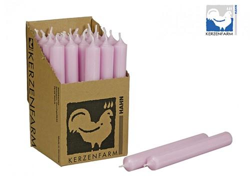 Doorgekleurde Staafkaarsen Pastelroze doos 25st mooie Kaarsen