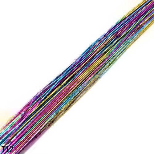 Rainbowdraad voor Nylonbloemen 25 st +/- 80cm gekleurd draad