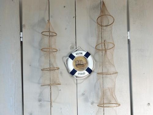 Fuik klein voor decoratie 60cm Vissersfuik 4 ringen