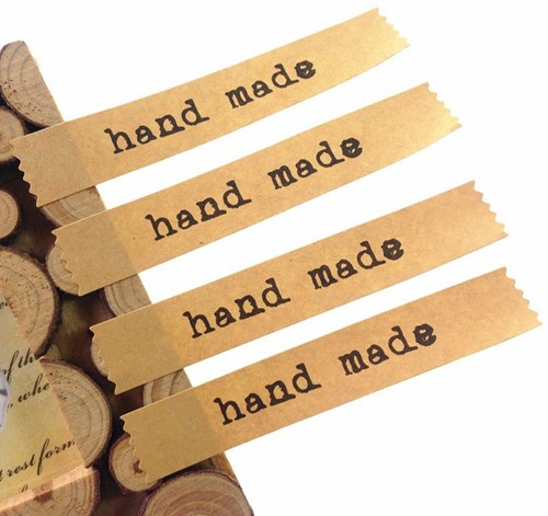 120 Stickers Labels Kraft Handmade  120 Stickers Labels Kraft