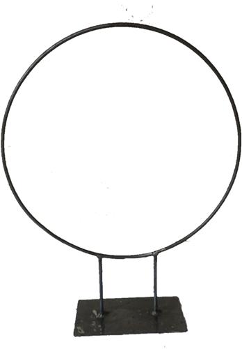 Frame Zwaar Ring op dubbele voet  PLATTE PLAAT R.50 diameter Krans van ijzer onbehandeld zo van de smid