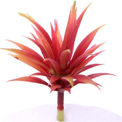 12cm. ARTIFICIAL SUCCULENT RED/GREEN Succulent
