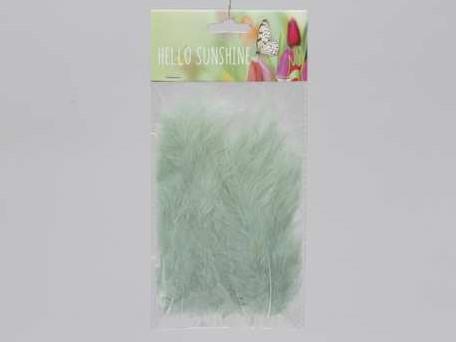 Actie Veertjes Fluffy +/- 15 cm. Groen +/- 24st Veren veertjes
