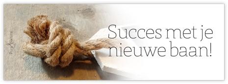 Bloemenkaartje Succes met je nieuwe baan! Bloemenkaartje