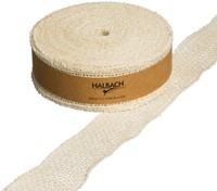 Juteband BURLAP dicht Creme Sand 5 cm. +/- 20 m Juteband +/- 5cm.-2