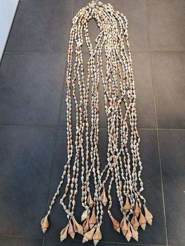 Schelpengordijn Schelpenhanger Perceng geboorde schelpen bruin geboorde schelpjes +/- 2 kg