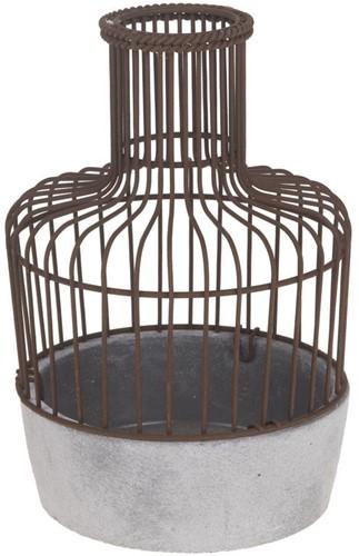 Ceramic birdcage vogelkooi 17. 5x17. 5x26. 5cm. mooie vogelkooi