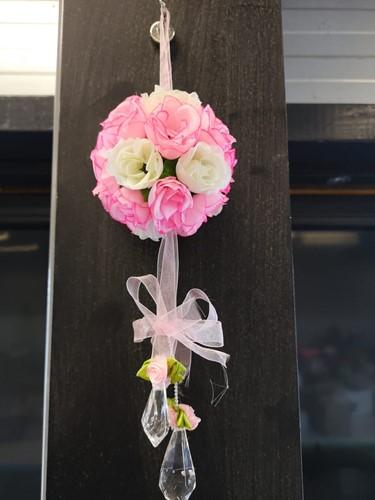bloemenbal Pomander RoseBall Bruidsmeisje BeautyPink - Pink+White bloemenbal Pomander