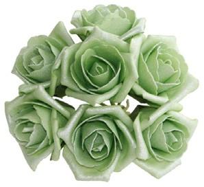 foam roos Emilia antique Cool Green doos 42 Parelmoer bloemen