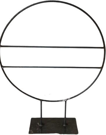 Frame Zwaar Ring op PLATTE PLAAT R.40 diameter. Met 2 spijlen Krans van ijzer onbehandeld zo van de smid