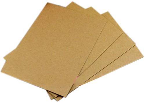 Kraft kaartenHandmade  +/- 20stuks kaarten blanco craftpaper