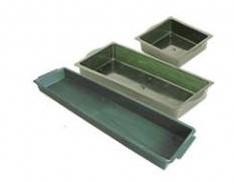Brick tray 1/2 13*12. 5 cm. Groen  voor 1/2 groot