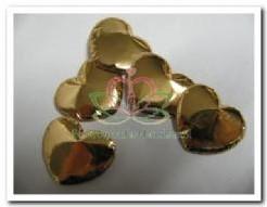 Padded Hart Goud 2-3 cm. / 5 stuks Padded Hart Gou