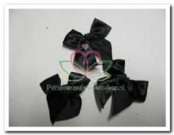 Satijn strik zwart / 5 stuks Satijn strik zw