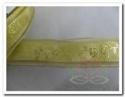 Lint Goud /rozen24 mm breed / per mete Lint Goud /roz