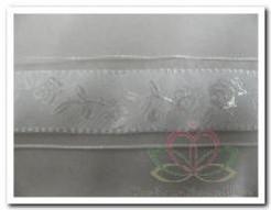 Lint Wit /rozen24 mm breed / per mete Lint Wit /roze