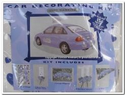Decoratie kit trouwauto 15 delig Decoratie kit