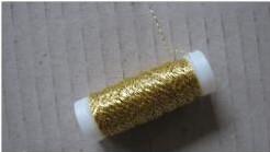 Bouilloneffectdraad 25 gram. Goudkleurig Bouilloneffectd