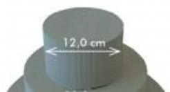 Steekschuim Taart  12 x 8 cm. Per Doos