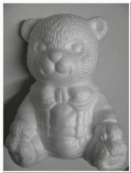 Styropor beer zittend 16 cm. Styropor beer