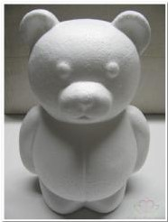 Styropor beer 25 cm. staand Styroporbeer 25