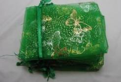 Giftbag organza Applegreen Golden Butterfly 7*9 cm. Giftbag organza Applegr