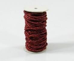 Koord rood glitter rol 5 meter Koord rood glit