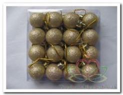 Kerstballetjes ds 16 stuks zilver glitter 2. 5 cm. Kerstballetjes