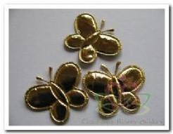 Padded Golden Butterfly +/- 2 cm. / 5 st Padded Golden B