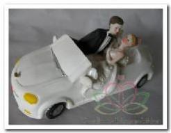 Bruiloftsauto trouwauto met bruidspaar16 Bruiloftsauto