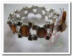Corsage Polscorsage-armband Jelly Bean Brown Corsage Polscor