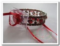 Corsage Polscorsage-armband Hard Rock red Corsage Polscor