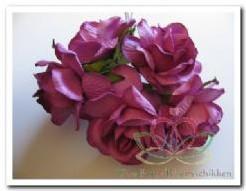 Mulberry roos Purple 5 cm./bundel 5 stuk Mulberry roos P