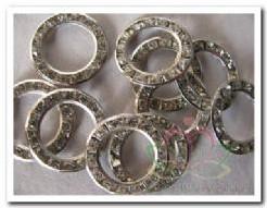 Trouwringen Strass zilverkleur 10 stuks Trouwringen Str