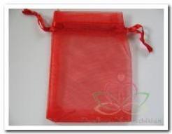 Giftbag organza Rood +/- 7*9 cm. Giftbag organza Rood