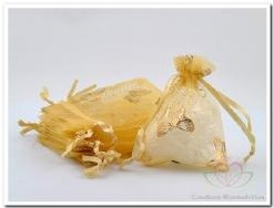 Giftbag organza Gold Golden Butterfly 7*9 cm. Giftbag organza Gold Gold